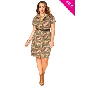 NWT Ashley Stewart Camo Dress
